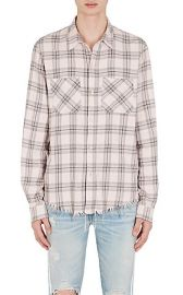 Faded Plaid Cotton-Cashmere Flannel Shirt at Barneys