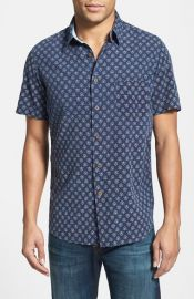 Faherty Trim Fit Short Sleeve Sport Shirt at Nordstrom