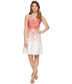 Faille Petals Fit-and-Flare Dress by Tahari ASL at Zappos