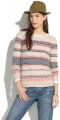 Fair Isle Striped Sweater at Madewell