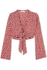 Faithfull The Brand   Teguise tie-front floral-print crepe top at Net A Porter