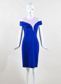 Christian Dior Blue Off Shoulder Dress at LGS