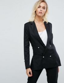 Fashion Union Double Breasted Blazer With Pearl Buttons at asos com at Asos