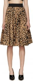 Fausto Puglisi Animal Print Pleated Skirt at SSENSE
