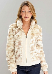 Faux Fur Bomber at Alloy
