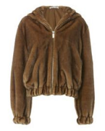Faux Fur Hooded Bomber Jacket by Helmut Lang at Intermix