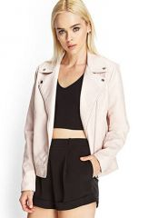 Faux Leather Jacket at Forever 21