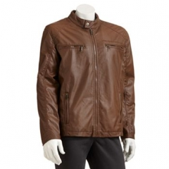 Faux Leather Moto Jacket at Kohls