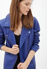 Faux Leather Moto Jacket at Forever 21