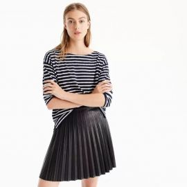 Faux-Leather Pleated Mini Skirt by J. Crew at J. Crew