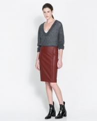 Faux Leather Skirt at Zara