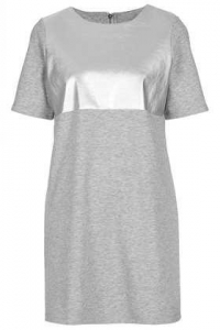 Faux Leather Sweat Tee Dress at Topshop
