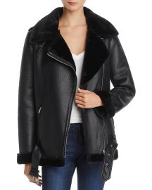 Faux-Shearling Moto Jacket by Aqua at Bloomingdales