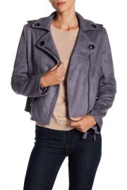 Faux Suede Biker Jacket by John & Jenn at Nordstrom Rack