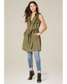 Faux Suede Trench Coat at Bebe