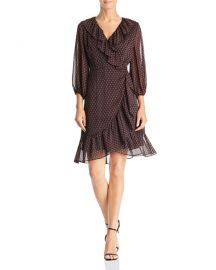 Faux-Wrap Foulard Dress  Adrianna Papell at Bloomingdales