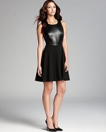 Faux leather dress by Laundry by Shelli Segal at Bloomingdales
