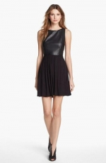 Faux leather fit and flare dress by B44 at Nordstrom
