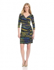 Faux wrap dress by Ivy and Blue at Amazon