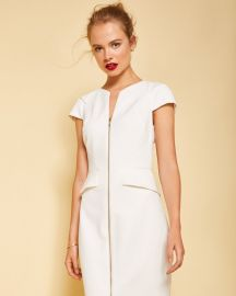 Fearnid Zip Front Pencil Dress by Ted Baker at Ted Baker