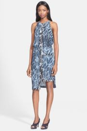 Feather Print Tiered Hem Dress by Halston Heritage at Nordstrom Rack