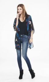 Feather Print Tunic Kimono by Express at Express