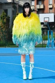Feather coat 2015 SS Collection at Daizy Shely