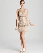 Feather dress by Sue Wong at Bloomingdales