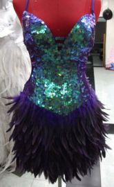 Feather showgirl dress at eBay