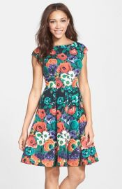 Felicity and Coco Floral Stretch Dress at Nordstrom