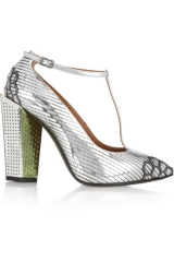 Fendi Metallic T Bar Pumps at Net A Porter
