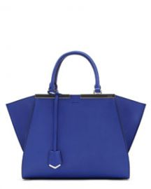Fendi Trois-Jour Mini Shopping Tote Neon Blue Royal at Neiman Marcus