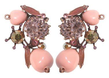 Fiancee Collection Earrings pink at Konplott