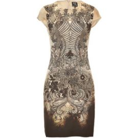 Filigree and Lace Print Dress by Alexander Mcqueen at Stylebop