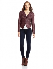 Fillmore leather jacket in burgundy at Amazon