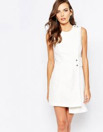 Finders Keepers   Finders Keepers 60s Shift Dress in Ivory at Asos
