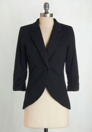 Fine and Sandy Blazer in Noir at ModCloth