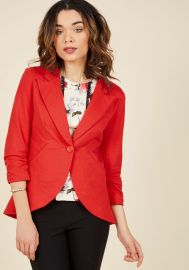 Fine and Sandy Blazer in Red at ModCloth