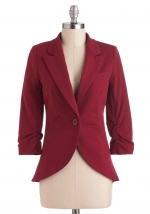 Fine and Sandy blazer in burgundy at Modcloth at Modcloth