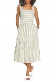 First Monday Sleeveless Stripe Midi Dress at Nordstrom