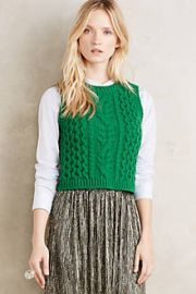 Fisherman Sweater Vest at Anthropologie