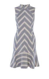 Fit and Flare Stripe Tweed Dress at Karen Millen