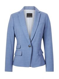 Fitted Crop Lightweight Wool Blazer at Banana Republic
