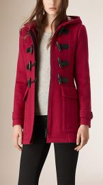 Fitted Wool Duffle Coat at Burberry
