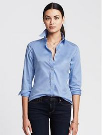 Fitted non iron shirt at Banana Republic