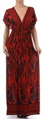 Flame printed maxi dress at Amazon