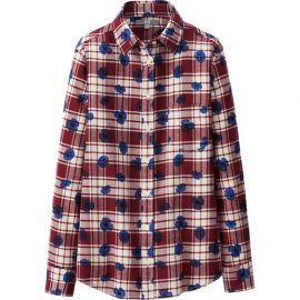 Flannel Print Shirt at Uniqlo