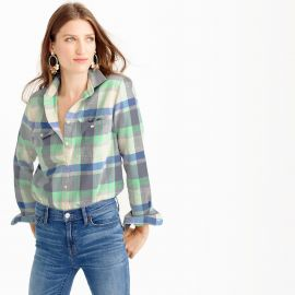 Flannel boyfriend shirt  at J. Crew