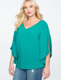 Flare Sleeve Bow Back Top by Eloquii at Eloquii