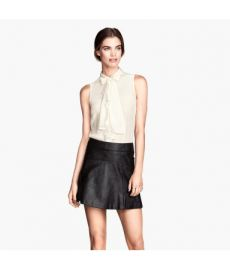 Flared Leather Skirt at H&M